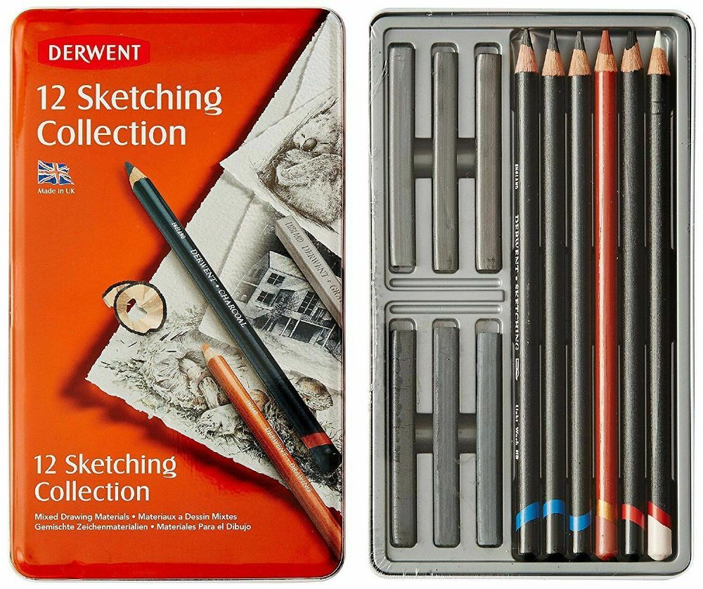 Derwent Sketching Collection Tin Set of 12